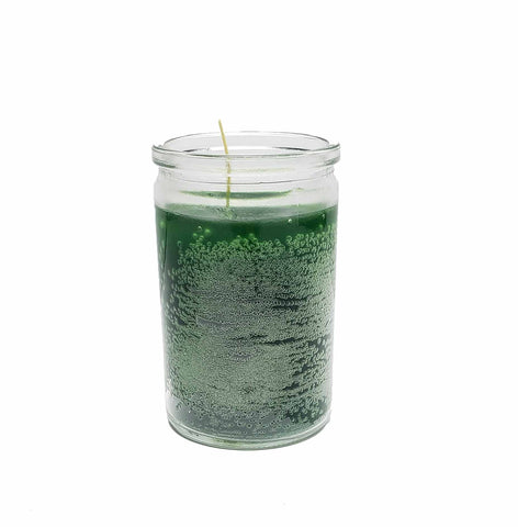Green Glass Candle Jar