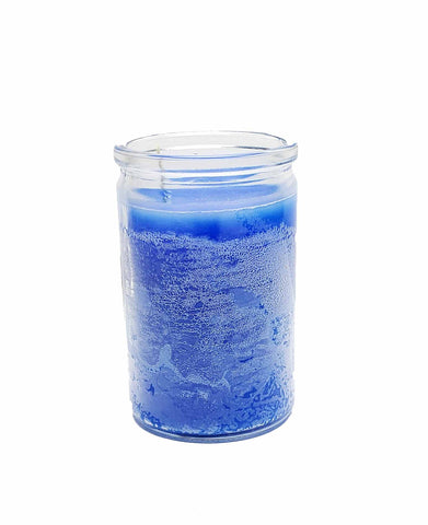 Blue Glass Candle Jar