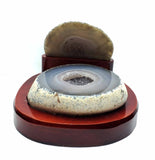 Agate Geode on Wood Stand