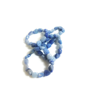 Blue Quartz Tumbled Bracelet