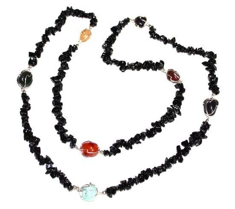 Chakra Tourmaline Chip Necklace