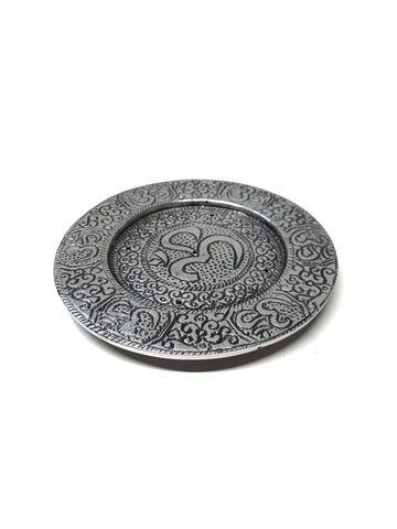 Aluminum Tibetan Om Incense Holder