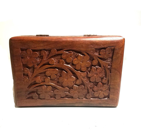 Flower Wood Box