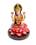 Lakshmi Hindu Goddess on Lotus Statue Sculpture