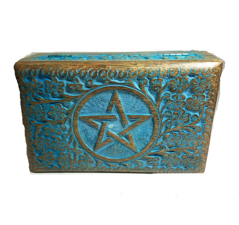 Pentacle Wood Box