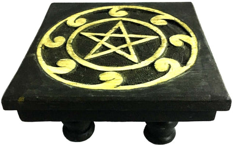 Wood Altar Pentacle Table