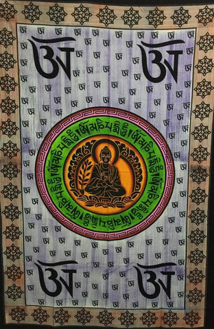Tapestry Hand Painted Om Buddha