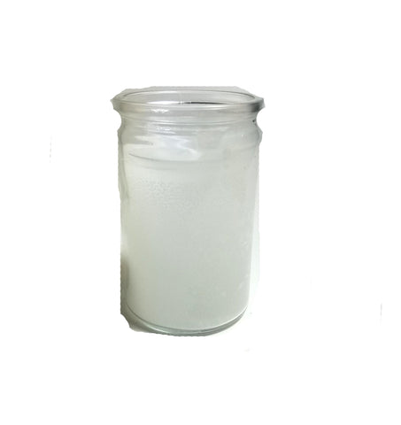 White Glass Jar Candle