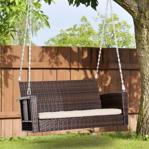 New Resin Wicker Porch Swing For 2019