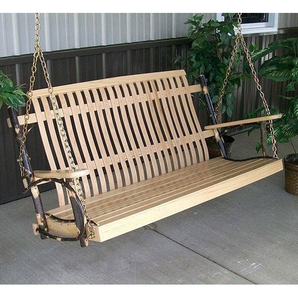 Amish porch swing made in pennyslvania.