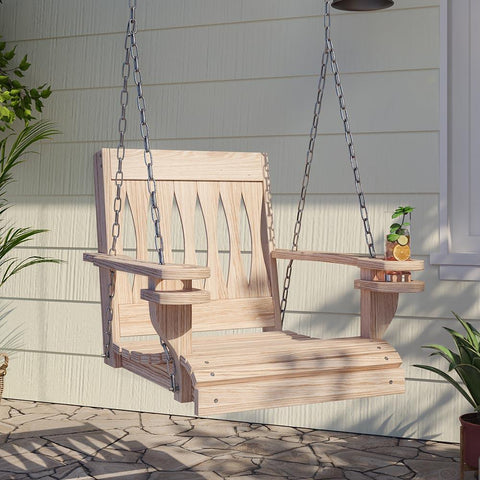 Single Porch Swing Wooden