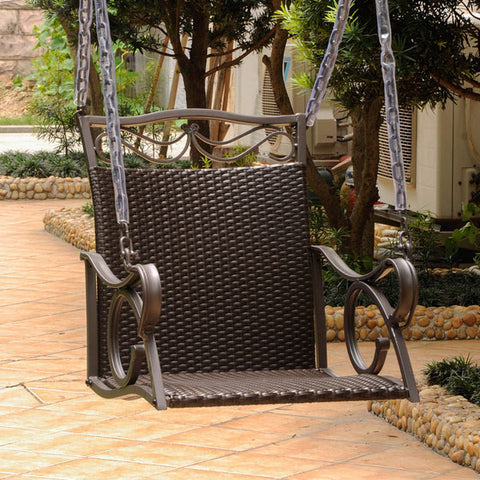 International Caravan Valencia Resin Wicker Swing Chair