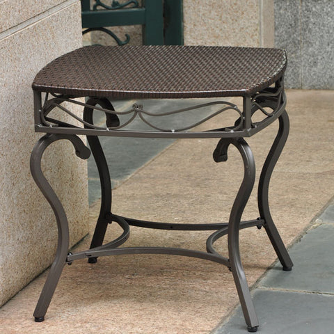 International Caravan Valencia Resin Wicker Side Table