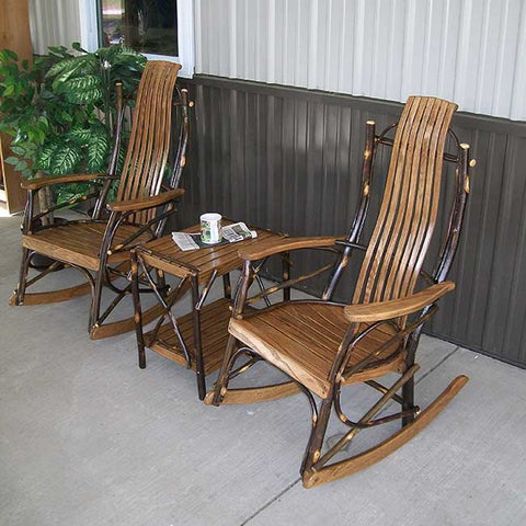 A&L Furniture Co. Hickory 3pc. Rocking Chair Set