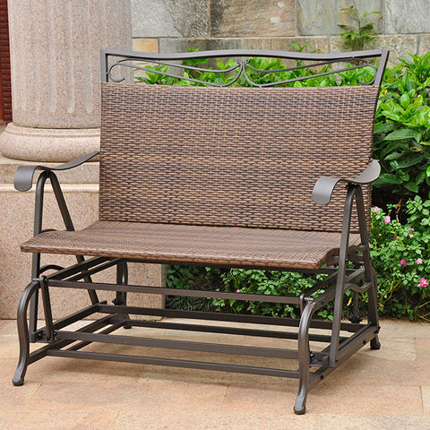 International Caravan Valencia 4ft. Resin Wicker Patio Glider