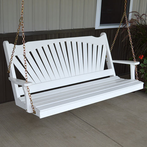 A&L Furniture Co. Fanback Porch Swing