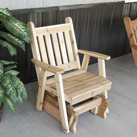 A&L Furniture Co. Traditional English Red Cedar Gliding Chair