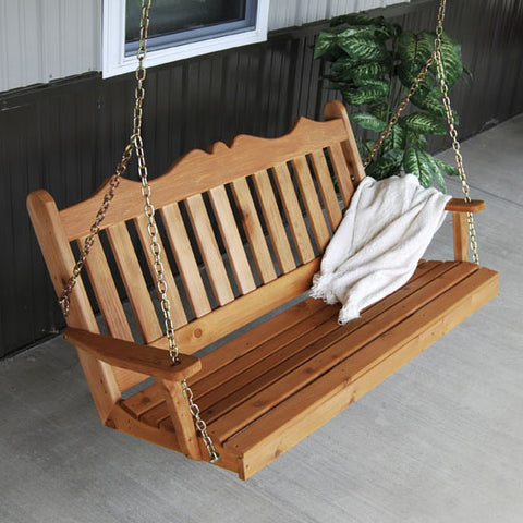 A&L Furniture Co. Royal English Red Cedar Porch Swing