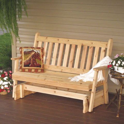 A&L Furniture Co. Traditional English Red Cedar Porch Glider