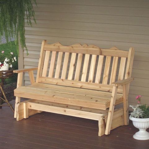 A&L Furniture Co. Royal English Red Cedar Porch Glider