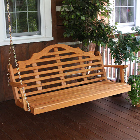 A&L Furniture Co. Marlboro Red Cedar Porch Swing