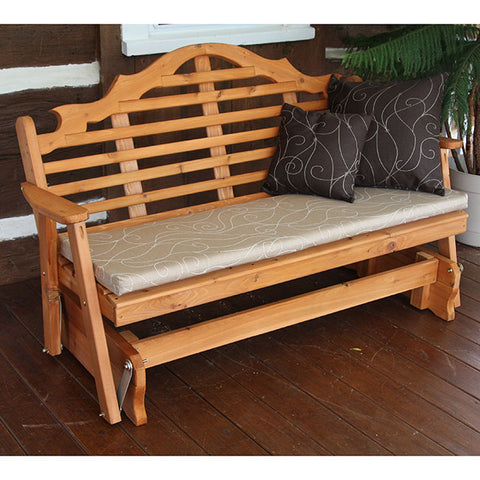 A&L Furniture Co. Marlboro Red Cedar Porch Glider