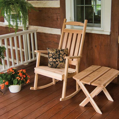 A&L Furniture Co. Classic Red Cedar Porch Rocker