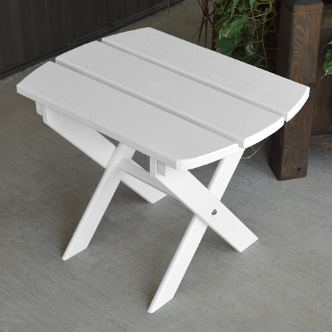 A&L Furniture Co. Folding Oval End Table