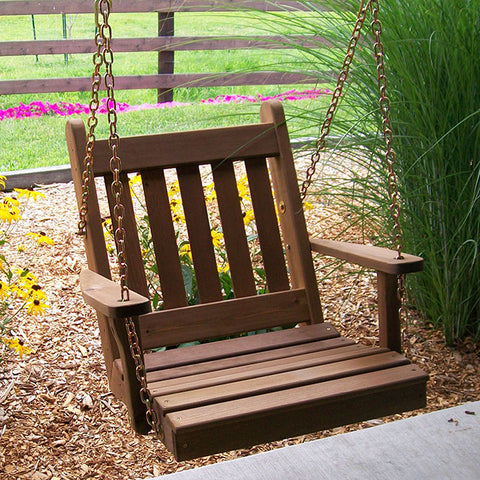 A&L Furniture Co. Traditional English Red Cedar Swing Chair