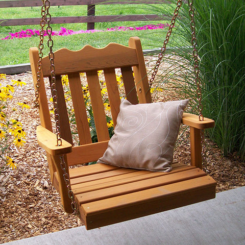 A&L Furniture Co. Royal English Red Cedar Swing Chair