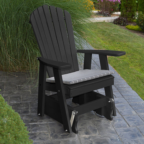 A&L Furniture Co. Adirondack Recycled Plastic Glider Chair