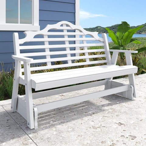 A&L Furniture Co. Marlboro Recycled Plastic Porch Glider