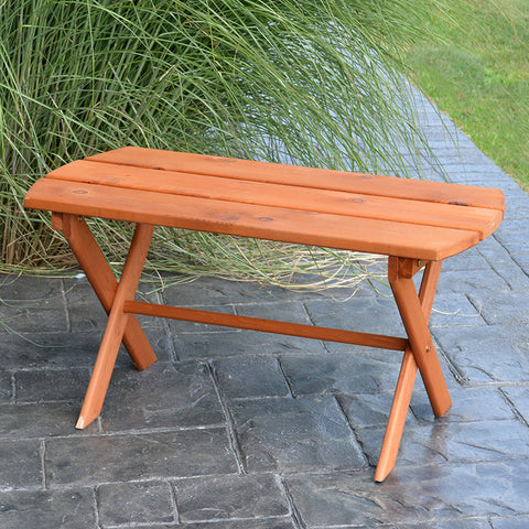 A&L Furniture Co. Folding Oval Red Cedar Coffee Table