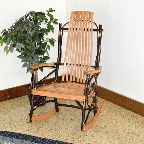 A&L Furniture Co. Hickory 9-Slat Rocking Chair