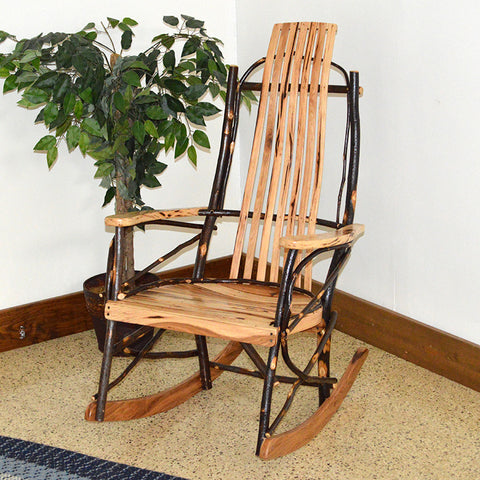 A&L Furniture Co. Rustic Hickory Rocking Chair