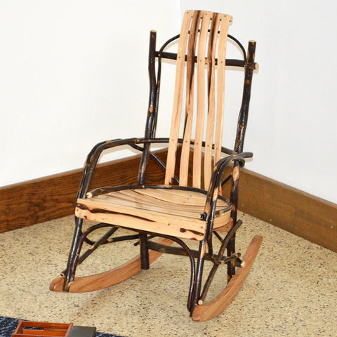 A&L Furniture Co. Rustic Hickory Child's Rocking Chair