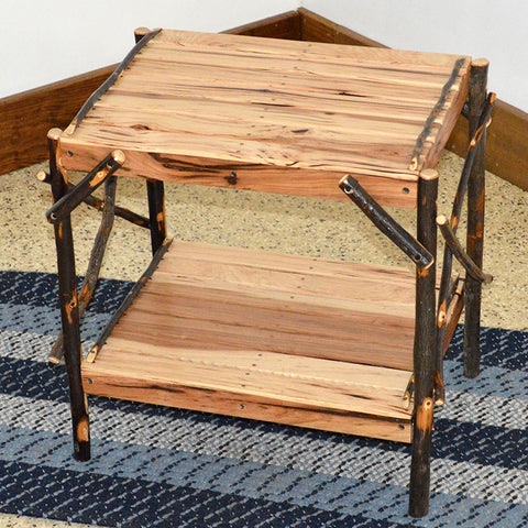 A&L Furniture Co. Rustic Hickory End Table