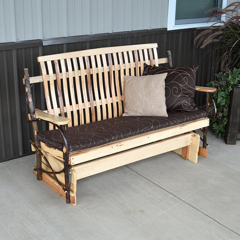 A&L Furniture Co. Rustic Hickory Porch Glider