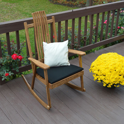 A&L Furniture Co. Bent Oak Porch Rocker