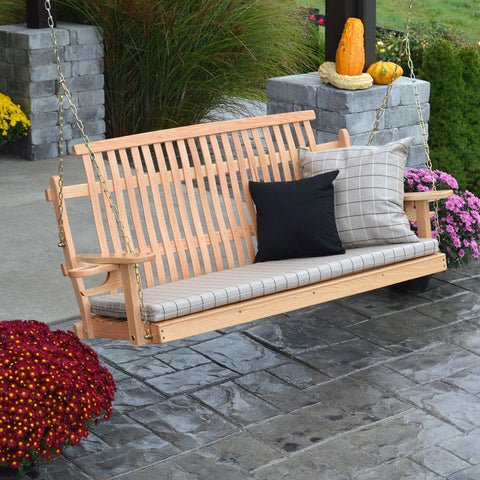 A&L Furniture Co. Bent Oak Porch Swing