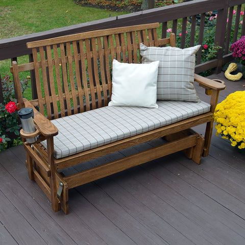 A&L Furniture Co. Bent Oak Porch Glider