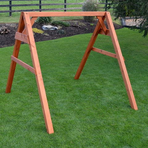 A&L Furniture Co. 4x4 Red Cedar A-Frame Swing Stand