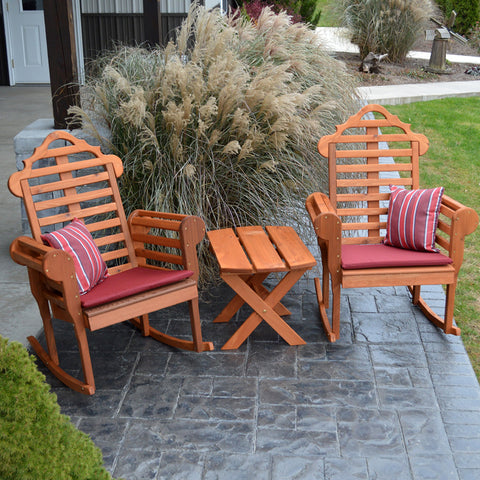 A&L Furniture Co. Marlboro 3pc. Red Cedar Rocking Chair Set
