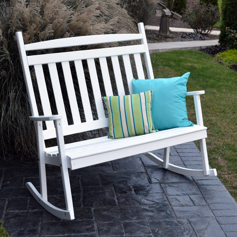 A&L Furniture Co. Classic Double Porch Rocker