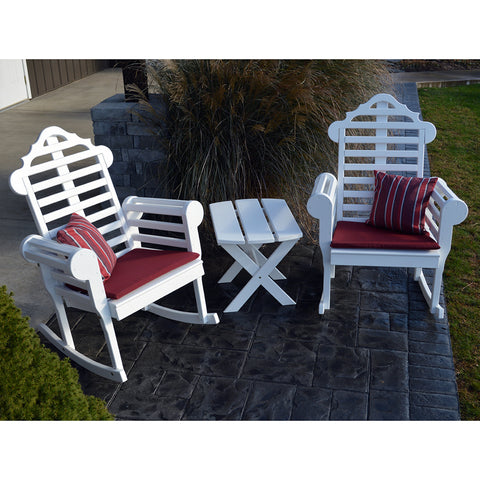 A&L Furniture Co. Marlboro 3pc. Rocking Chair Set