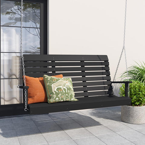 A&L Furniture Co. Winston Recycled Plastic Porch Swing