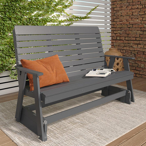 A&L Furniture Co. Winston Recycled Plastic Porch Glider