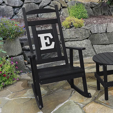 A&L Furniture Co. Monogram Recycled Plastic Rocking Chair