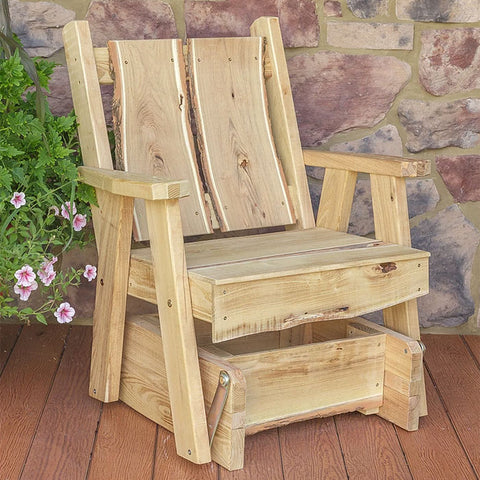 A&L Furniture Co. Blue Mountain Live Edge Timberland Glider Chair