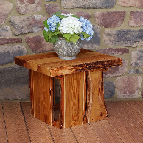 A&L Furniture Co. Blue Mountain Live Edge Evening Grove End Table